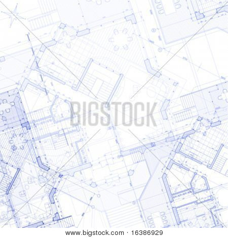 vector abstract architecture background:  house plan