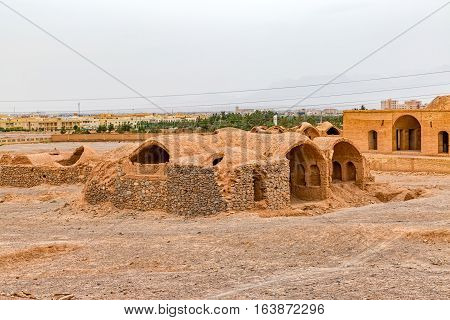 Disused old building at the foot of the Tower of Silence in Yazd, Iran.