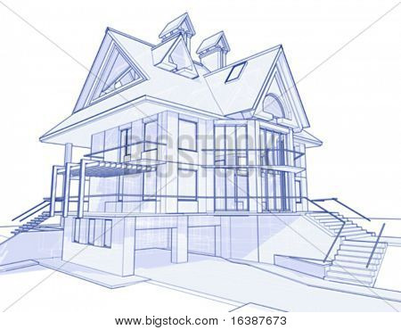 House blueprint images stock photos illustrations bigstock 3d house drawing