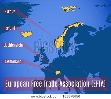 Schematic Map Of The European Free Trade Association (efta).