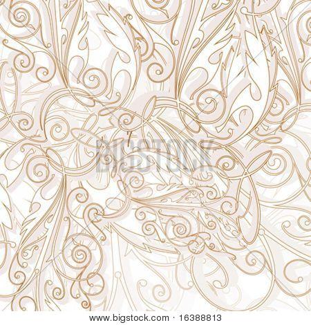 vector wallpaper - vintage ornament