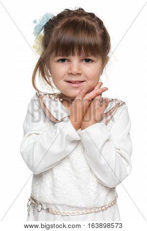 Shy Preschool Girl