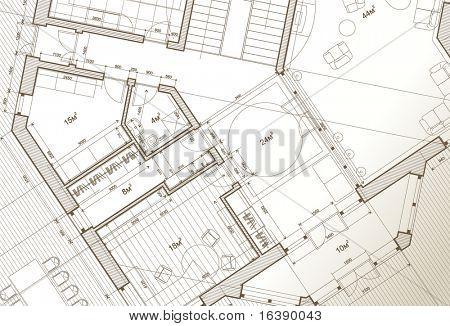 architect house plan: vector blueprint
