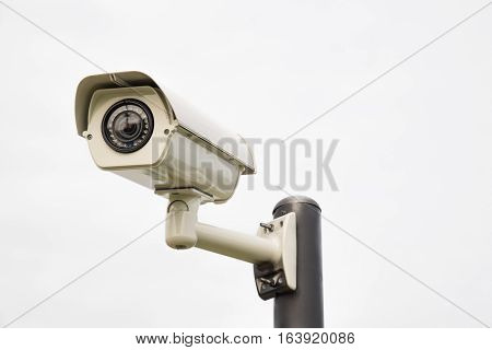CCTV security camera Isolated on white background