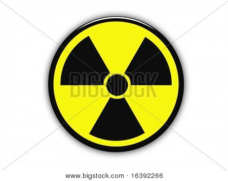Yellow radioactive sign