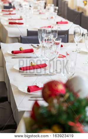 Serving Table For Christmas Dinner
