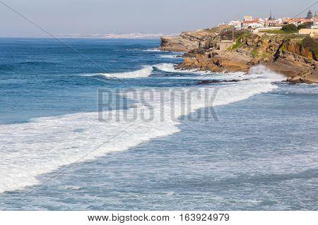 Atlantic Coastline In Europe, With Surfs