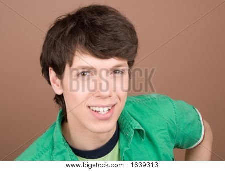 Young Man Friendly Smiling Portrait