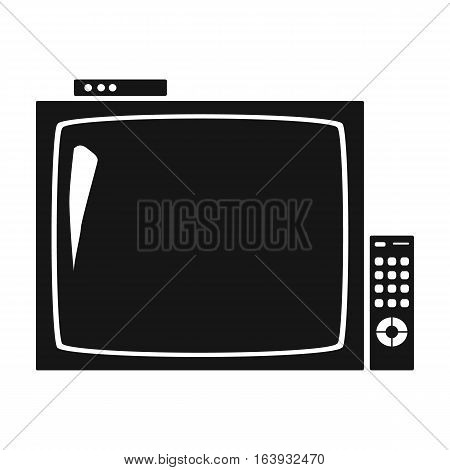 Pub television icon in black design isolated on white background. Pub symbol stock vector illustration.