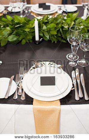 Wedding decor. Wedding interior, Festive decor, table layout.