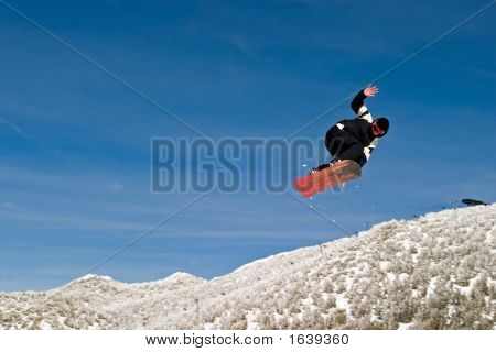 Snow Boarder High In The Air Hand
