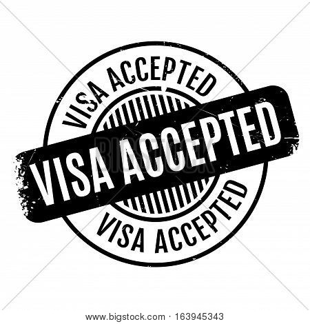 Visa Accepted rubber stamp. Grunge design with dust scratches. Effects can be easily removed for a clean, crisp look. Color is easily changed.