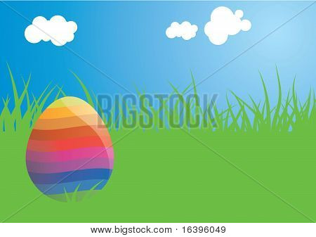 Sunny easter egg