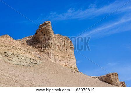 Crusted sand dunes on Maranjab Desert in Iran