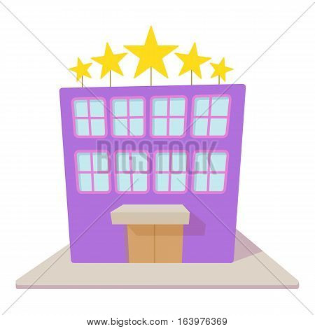 Hotel five stars icon. Cartoon illustration of hotel five stars vector icon for web