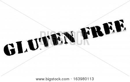 Gluten free stamp. Grunge design with dust scratches. Effects can be easily removed for a clean, crisp look. Color is easily changed.