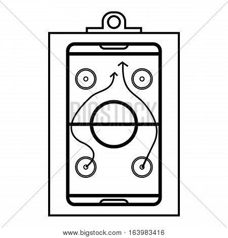 Hockey game plan icon. Outline illustration of hockey game plan vector icon for web