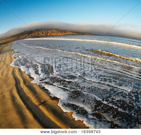Atlantic coast at sunrise, Luderitz, Namibia