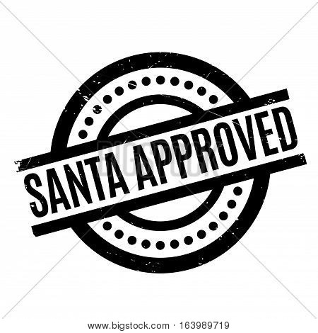 Santa Approved rubber stamp. Grunge design with dust scratches. Effects can be easily removed for a clean, crisp look. Color is easily changed.