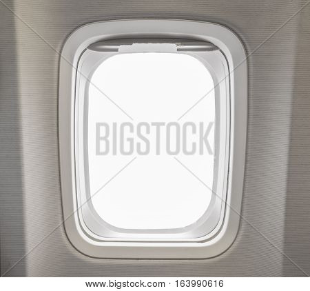 Windows Airplane In Cabin Of Huge Aircraft