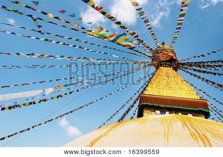 Buddhist temple Bodhnath in Kathmandu, Nepal