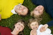 stock photo of happy family  - Happy family - JPG
