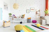 Baby Room With White Wall poster