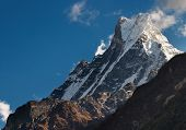 Machhapuchhre mountain in Nepal (Fishtail)