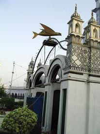 picture of muharram  - The entrance gate of the historic chota imambada of lucknow  - JPG