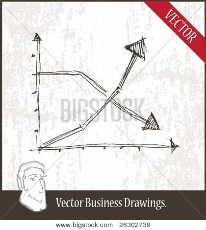 Vector illustration. Graph.