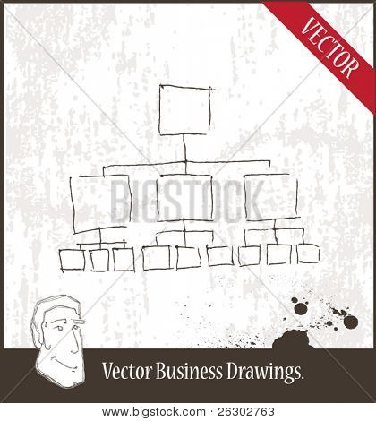 Vector illustration. Organizational chart.