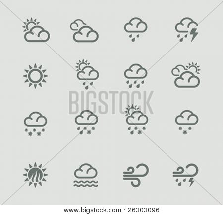 Vector weather forecast pictogram set. Part 1
