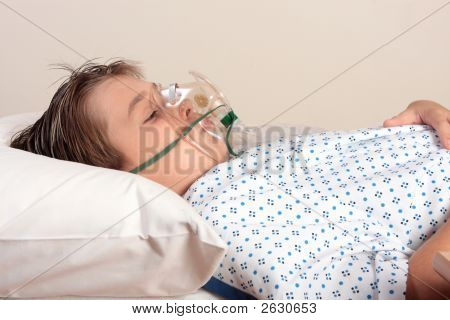 Unwell Child Oxygen Mask