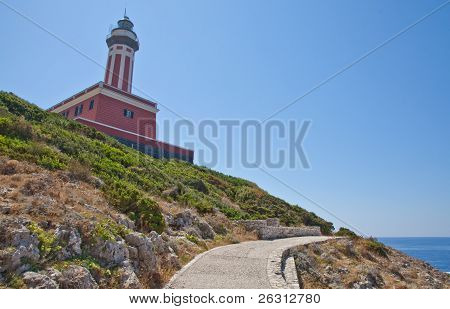 Road And Lighthouse