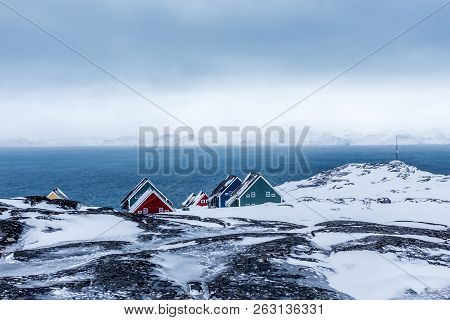 Rows Of Colorful Inuit Houses