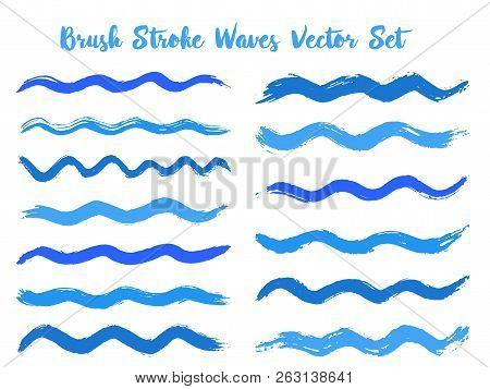 Mottled Brush Stroke Waves Vector