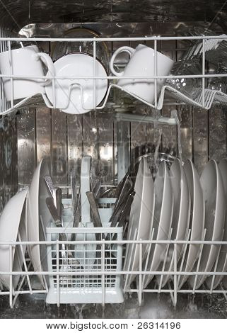 Inside of dishwasher 4