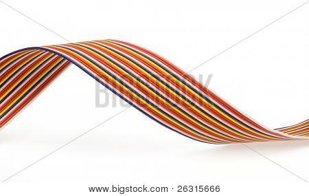Multicolored data wires