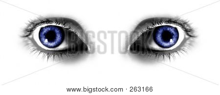 Two Abstract Blue Eyes