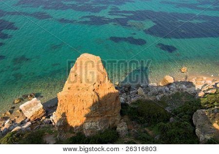 Three-cornered Rock near the sea 2, Halkidiki, Greece