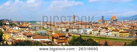 Panorama in Florence, six parts, Toscana, Italy
