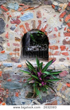 Aging Wall Detail At Annaberg Plantation