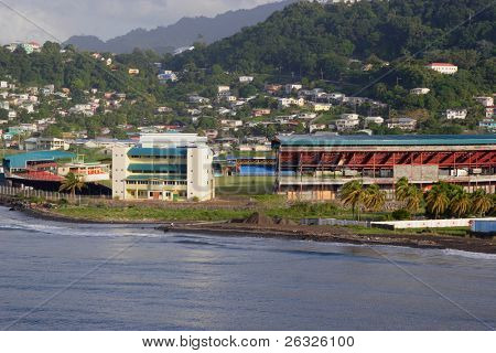 Arnos Vale Stadium, the cricket stadium in Kingstown, St. Vincent.
