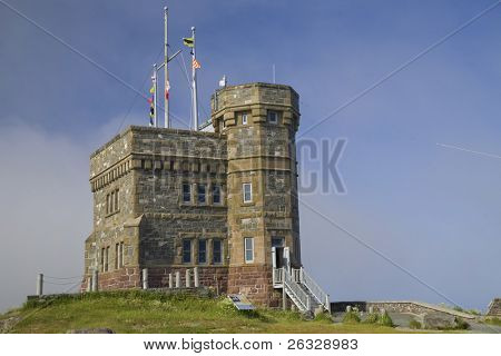 Cabot Tower was built in 1897 on Signal Hill, overlooking the city of St. John's, Newfoundland, Canada.