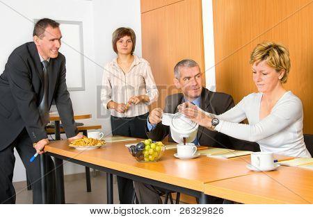 A little coffee break in training or meeting