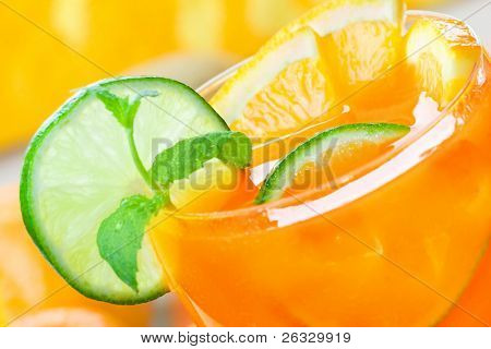 Fresh citrus drink (margarita, tequila sunrise etc.) or citrus juice.
