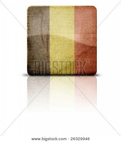 Grunge style flag of Belgium