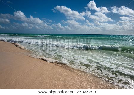 Beautiful beach and  waves of Casea