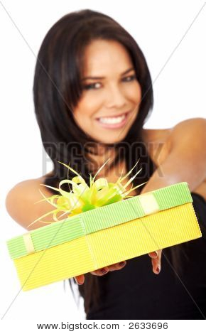 Girl Offering A Gift