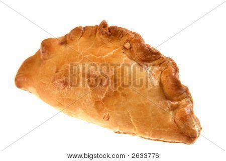 Isolated Cornish Pasty Meat Pie